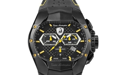 Tonino Lamborghini - GT1 Chronograph Watch Yellow Carbon Swiss Made - T9GE - Men - 2011-present
