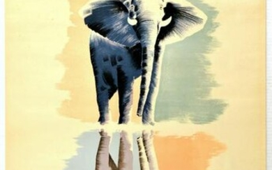 Travel Poster South Africa Call of the Wild Elephant