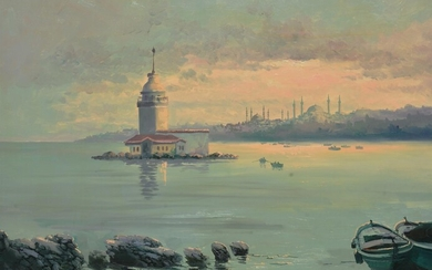 Turkish School (20th century) , View of Constantinople