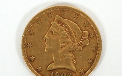 U.S. LIBERTY HEAD, $5.DOLLAR GOLD COIN