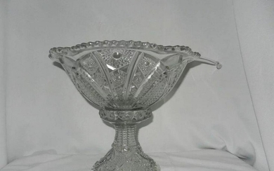 Vintage Indiana Glass Panelled Daisy and Fine Cut Punch