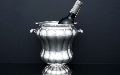 Wine cooler (1) - .800 silver - Italy - Mid 20th century