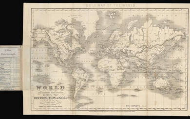 World on Mercator's Projection, Shewing the Distribution of Gold.