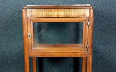 collector showcase Art Nouveau period mahogany glazed 4 sides