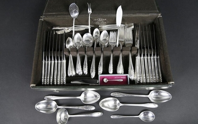 116 Piece Gorham Sterling Silver Flatware Service in the Lyric Pattern