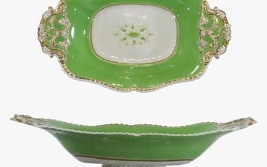19th C. Old Paris Fine Porcelain Pedestal Serving Dish