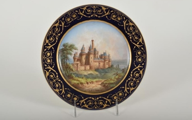 19th Century Sevres Hand Painted Porcelain Plate of