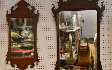 "2 Mahogany Chippendale Style Mirrors (40""h x 21""w) AND"