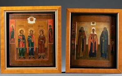 2 Russian Icons of saints.