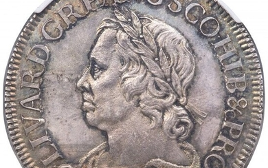 30166: Oliver Cromwell Crown 1658/7 MS64 NGC, KM393.2