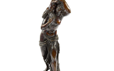 A Bronze Group of a Nude with a Faun
