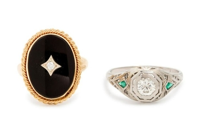 A Collection of Gold and Diamond Rings,