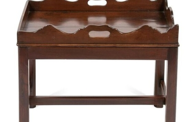 A Georgian Style Butler's Tray on a Later Stand Height