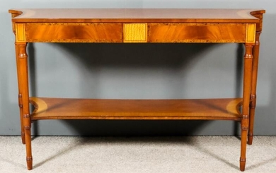 """A Modern Mahogany Console Table of """"Georgian"""" Design, the..."""