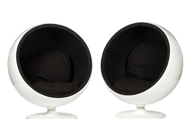 A Pair of Mid-Century Modern Fiberglass Egg Chairs