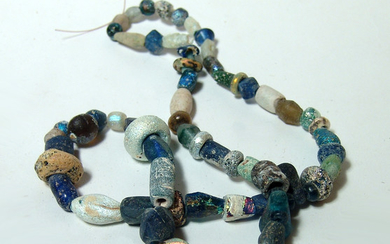 A Roman beaded glass necklace
