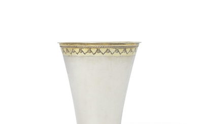 A SWEDISH LARGE PARCEL-GILT SILVER BEAKER, MARK OF WILHEM ANDREAS MEIJER, STOCKHOLM, 1747