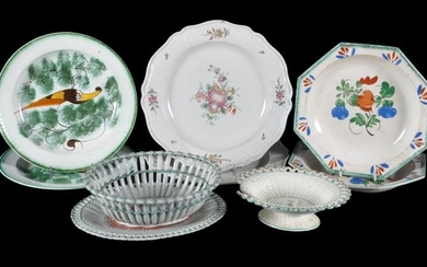 A group of British pottery and stoneware