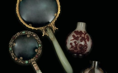 A lot of jade and agate items, China, Qing Dynasty
