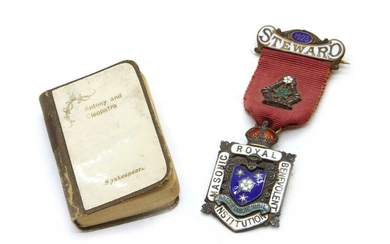 A silver and enamelled Royal Masonic Benevolent Institution 1923 steward's medallion