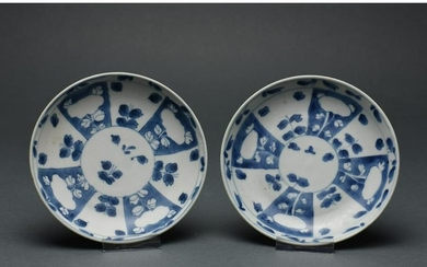 CHINESE QING BLUE AND WHITE PORCELAIN PLATES