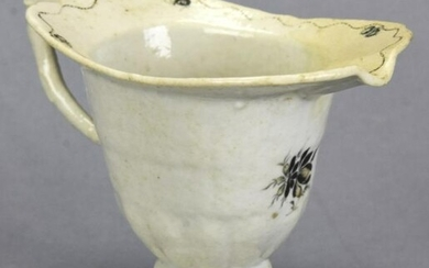 Chinese Hand Painted Porcelain Sauce Boat