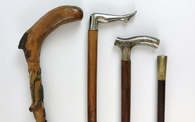 Collection, Antique Walking Sticks, (4pc)