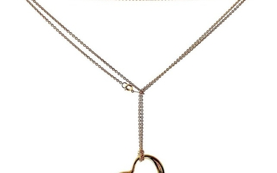Elsa Peretti Tiffany & Co. 18 Karat Gold Large Floating Heart Pendant Necklace