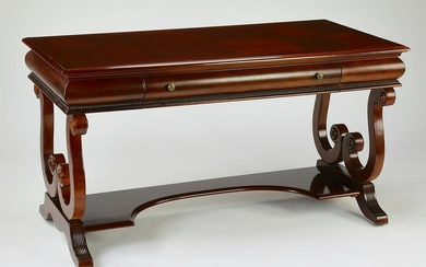 Empire style mahogany library table or desk