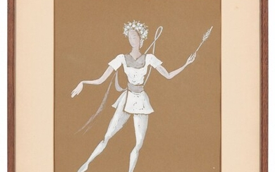 English School, c. 1940s, Two studies for Czemyana; Sleeping Beauty and a Classical Fairy'