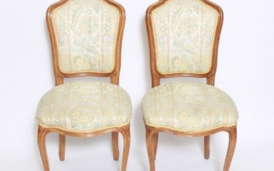French Louis XV Manner Side Chairs, Pair