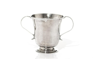 GEORGE II PROVINCIAL SILVER TWO HANDLED CUP, 266g