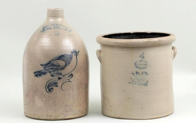 Group of (2) American stoneware