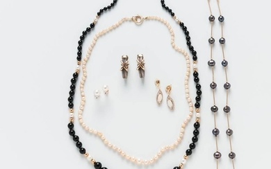 Group of Necklaces and Earrings