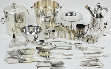 Group of Silver Plated Tableware and Flatware