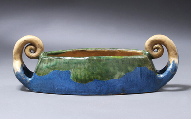 H.A. Brendekilde for Kähler. Art Nouveau bowl in glazed ceramics