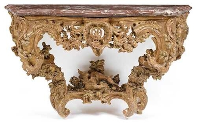 "IMPORTANT, FINELY CARVED CONSOLE ""AUX DRAGONS"""