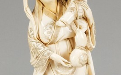Ivory figure of a woman with 2 boys,...