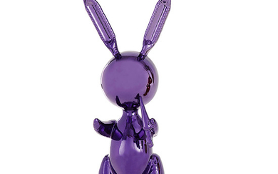 JEFF KOONS (D'APRÈS) PURPLE RABBIT Alliage de zinc...