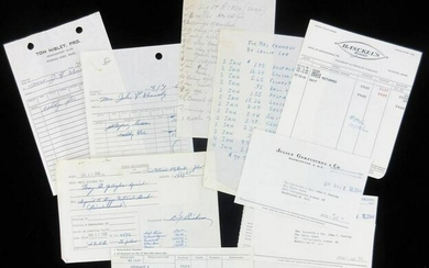 Kennedy Family Receipts from JFK's Days as President &