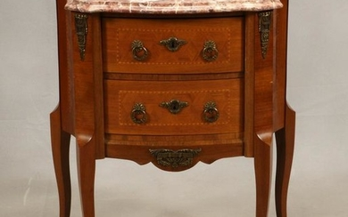 LOUIS XV STYLE, MARBLE TOP CONSOLE
