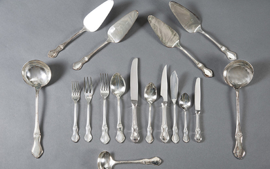 "Large silver plated cutlery from Meneses, model ""Nudo..."