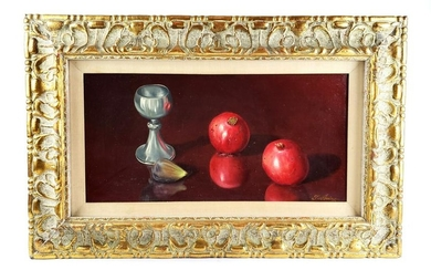 "Magnificent T. Amiry Oil on Canvas ""Still Life Fruits"""