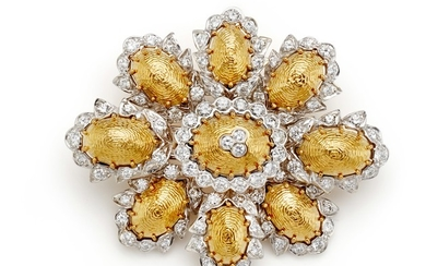 Moba, A Diamond and Gold Brooch/Pendant