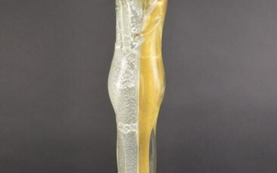 Murano Glass Lovers Sculpture, silver and gold flake