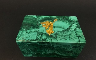 ORMOLU MOUNTED EMPIRE STYLE MALACHITE BOX