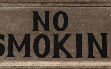 "Painted Wood ""No Smoking"" Sign"