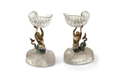 Pair of Rock Crystal Mermaids