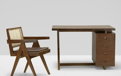 Pierre Jeanneret, desk and chair from the