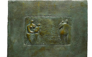 RELIEF: SEATED AND STANDING MOTHER AND CHILD, Henry Moore